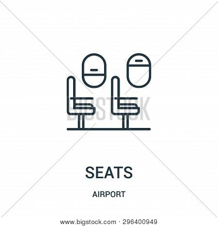 Seats Icon Isolated On White Background From Airport Collection. Seats Icon Trendy And Modern Seats