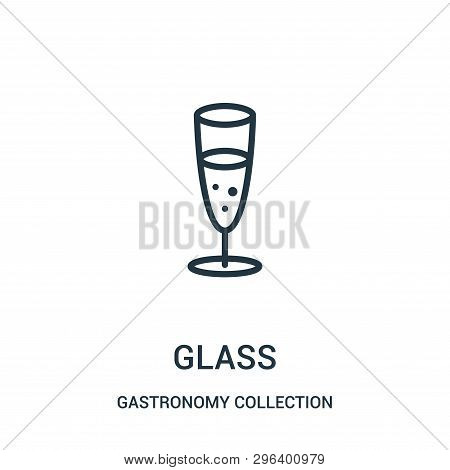 Glass Icon Isolated On White Background From Gastronomy Collection. Glass Icon Trendy And Modern Gla