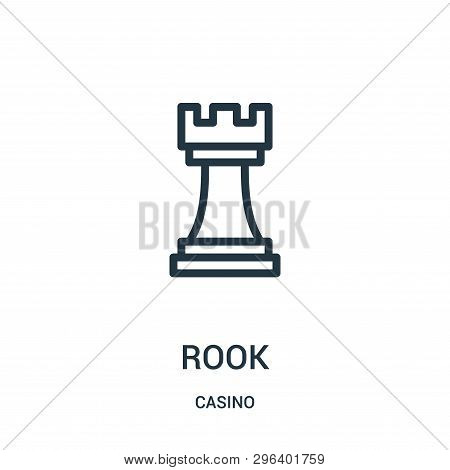 Rook Icon Isolated On White Background From Casino Collection. Rook Icon Trendy And Modern Rook Symb
