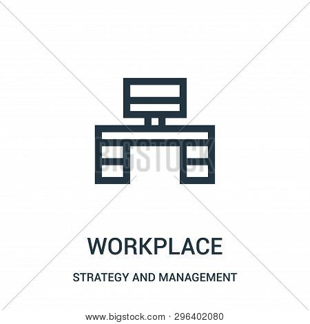 Workplace Icon Isolated On White Background From Strategy And Management Collection. Workplace Icon