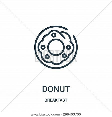 Donut Icon Isolated On White Background From Breakfast Collection. Donut Icon Trendy And Modern Donu