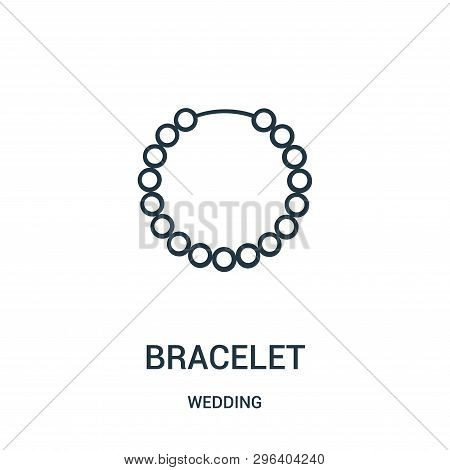 Bracelet Icon Isolated On White Background From Wedding Collection. Bracelet Icon Trendy And Modern