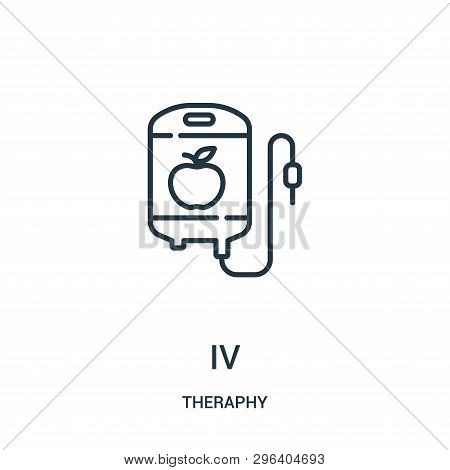 Iv Icon Isolated On White Background From Theraphy Collection. Iv Icon Trendy And Modern Iv Symbol F