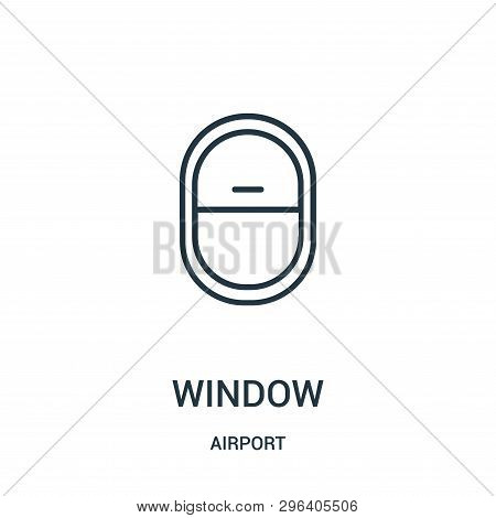 Window Icon Isolated On White Background From Airport Collection. Window Icon Trendy And Modern Wind