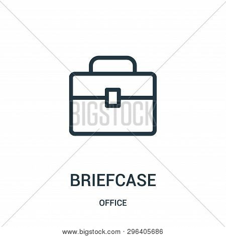 Briefcase Icon Isolated On White Background From Office Collection. Briefcase Icon Trendy And Modern