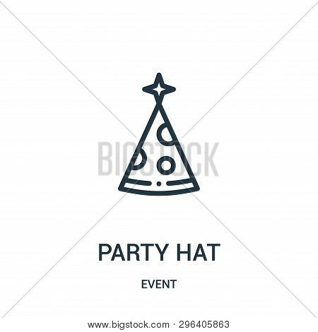 Party Hat Icon Isolated On White Background From Event Collection. Party Hat Icon Trendy And Modern