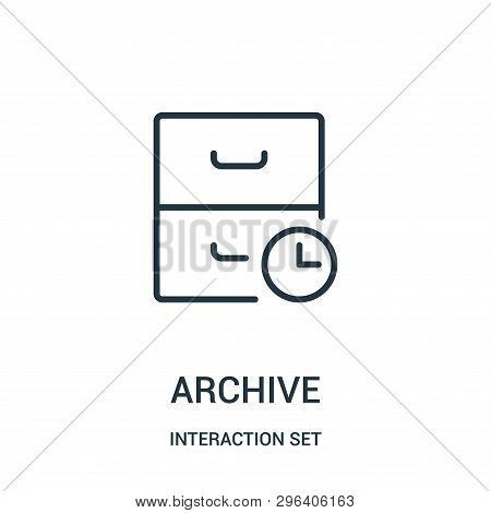Archive Icon Isolated On White Background From Interaction Set Collection. Archive Icon Trendy And M