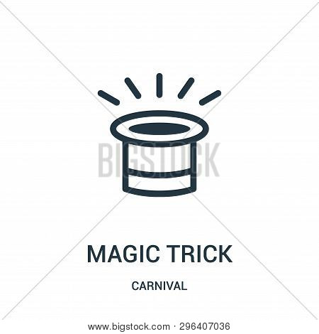 Magic Trick Icon Isolated On White Background From Carnival Collection. Magic Trick Icon Trendy And