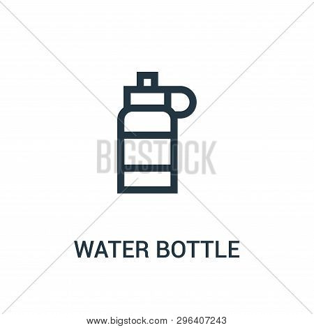 Water Bottle Icon Isolated On White Background From Gym Collection. Water Bottle Icon Trendy And Mod