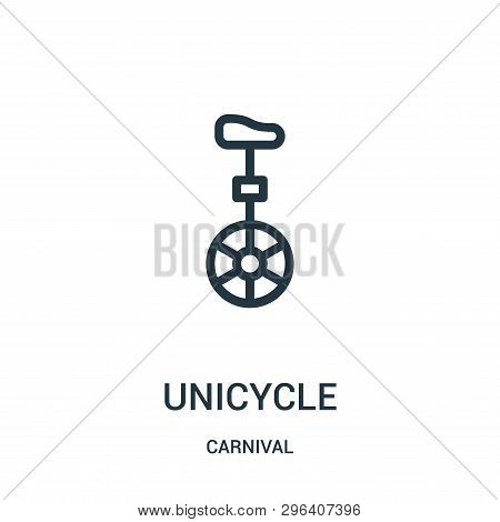 Unicycle Icon Isolated On White Background From Carnival Collection. Unicycle Icon Trendy And Modern