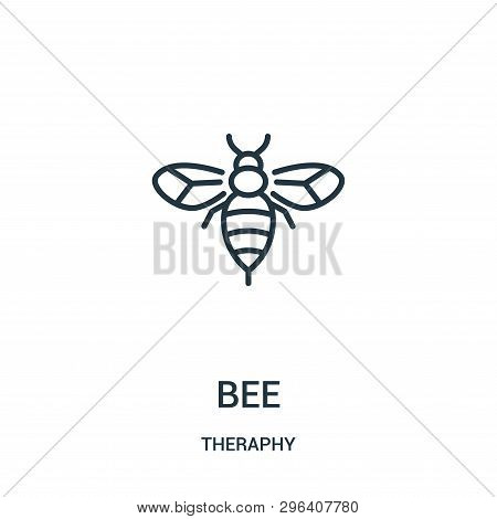 Bee Icon Isolated On White Background From Theraphy Collection. Bee Icon Trendy And Modern Bee Symbo