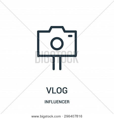 Vlog Icon Isolated On White Background From Influencer Collection. Vlog Icon Trendy And Modern Vlog