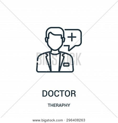 Doctor Icon Isolated On White Background From Theraphy Collection. Doctor Icon Trendy And Modern Doc