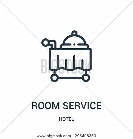Room Service Icon Isolated On White Background From Hotel Collection. Room Service Icon Trendy And M