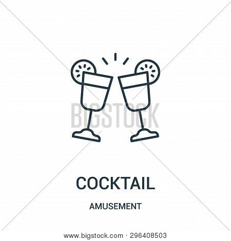 Cocktail Icon Isolated On White Background From Amusement Collection. Cocktail Icon Trendy And Moder