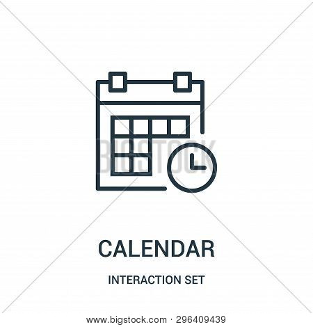 Calendar Icon Isolated On White Background From Interaction Set Collection. Calendar Icon Trendy And