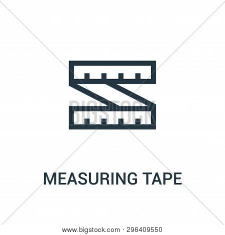 Measuring Tape Icon Isolated On White Background From Gym Collection. Measuring Tape Icon Trendy And