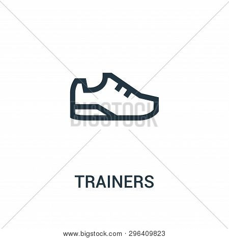Trainers Icon Isolated On White Background From Gym Collection. Trainers Icon Trendy And Modern Trai
