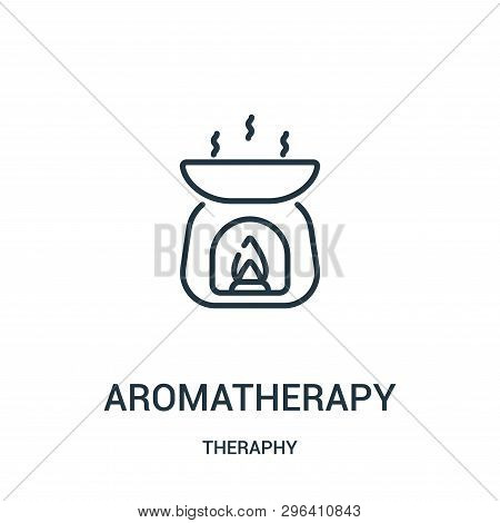 Aromatherapy Icon Isolated On White Background From Theraphy Collection. Aromatherapy Icon Trendy An
