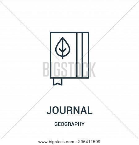 Journal Icon Isolated On White Background From Geography Collection. Journal Icon Trendy And Modern