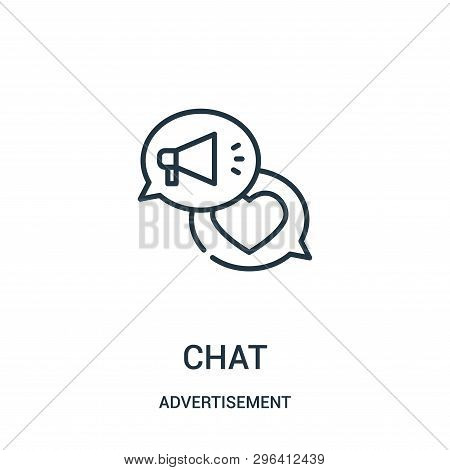 Chat Icon Isolated On White Background From Advertisement Collection. Chat Icon Trendy And Modern Ch