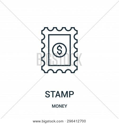 Stamp Icon Isolated On White Background From Money Collection. Stamp Icon Trendy And Modern Stamp Sy
