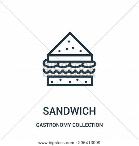 Sandwich Icon Isolated On White Background From Gastronomy Collection. Sandwich Icon Trendy And Mode