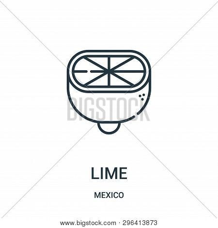 Lime Icon Isolated On White Background From Mexico Collection. Lime Icon Trendy And Modern Lime Symb