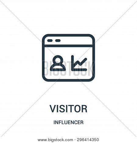 Visitor Icon Isolated On White Background From Influencer Collection. Visitor Icon Trendy And Modern