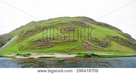 Mountain Peak At Peak District National Park, Derbyshire, England