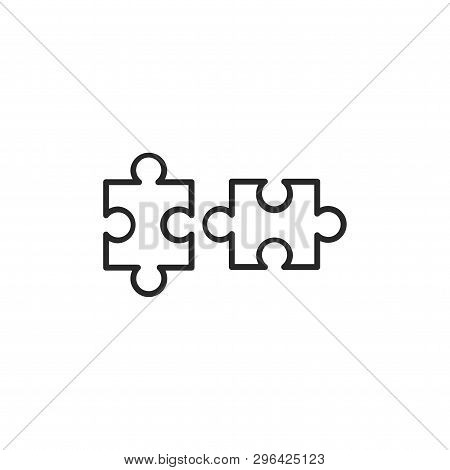 Puzzle Pieces Icon Isolated On White Background. Puzzle Pieces Icon In Trendy Design Style. Puzzle P