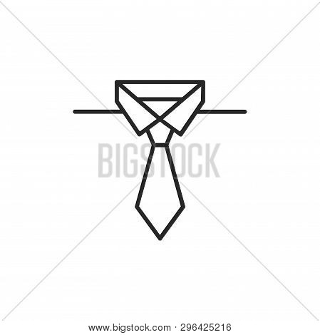 Tie Icon Isolated On White Background. Tie Icon In Trendy Design Style. Tie Vector Icon Modern And S