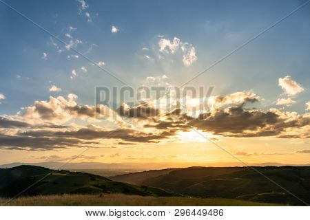 An image of a evening landscape scenery in Breisgau Germany