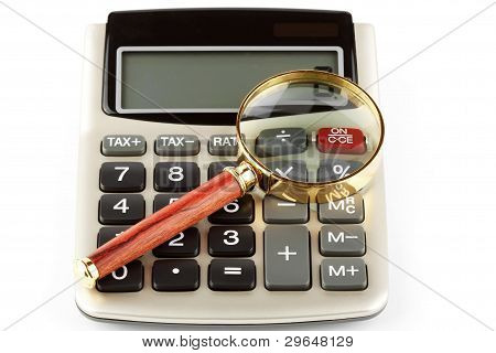 Calculator With A Magnifying