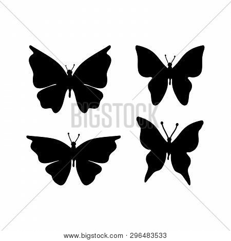 Set Of Butterfly Icon Isolated On White Background. Butterfly Icon Vector Image, Butterfly Icon In T