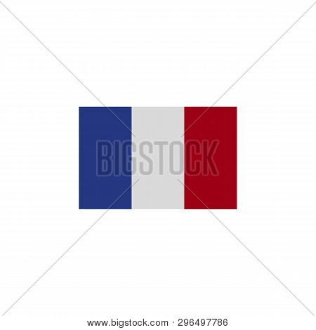 Flag Of France Colored Icon. Elements Of Flags Illustration Icon. Signs And Symbols Can Be Used For