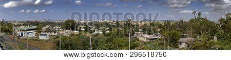Wide Angel View Of Community Of Cerro Gordo In Bayamon Puerto Rico.