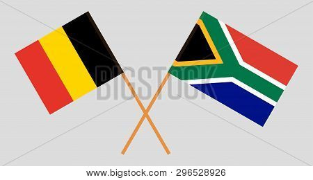 Rsa And Belgium. The South African And  Belgian Flags. Official Colors. Correct Proportion. Vector I