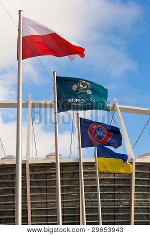 Kyiv, Ukraine - .december 11: The Olympic Stadium Under Construction For The Uefa Euro 2012 On Decem
