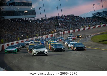 April 13, 2019 - Richmond, Virginia, USA: The Monster Energy NASCAR Cup Series teams take to the track for the Toyota Owners 400 at Richmond Raceway in Richmond, Virginia.