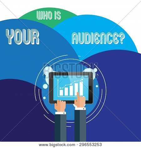Handwriting Text Who Is Your Audience Question. Concept Meaning Who Is Watching Or Listening To It B