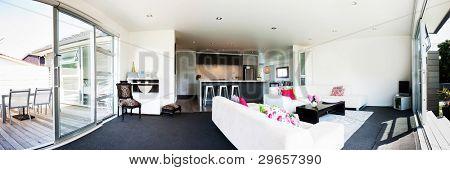 Panoramic Photo of a modern interior design home