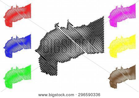 Meta Department (colombia, Republic Of Colombia, Departments Of Colombia) Map Vector Illustration, S