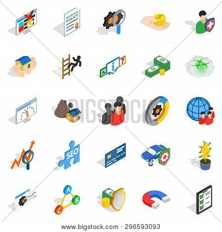 Constant Care Icons Set. Isometric Set Of 25 Constant Care Icons For Web Isolated On White Backgroun