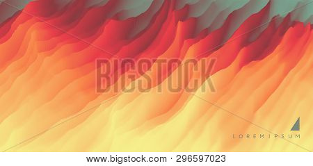 Lava. Abstract Background. Modern Pattern. Vector Illustration For Design.