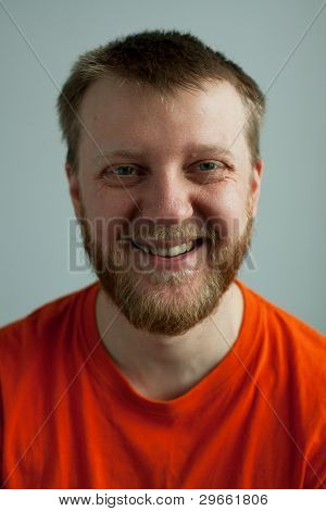 Rustic Laughing Good-natured Man