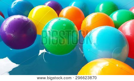 Plastic Pool Ball Party Colorful For Kids To Play Ball In Water Park, Colorful Ball Plastic Abstract