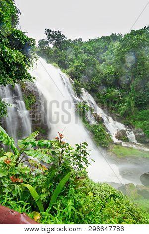 Wachirathan Waterfall In Doi Inthanon National Park, Chiang Mai, Thailand