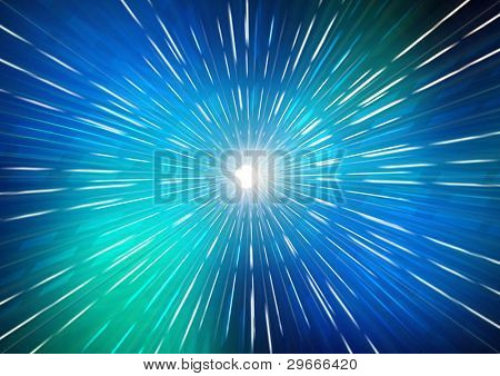 Space hyperspeed background.