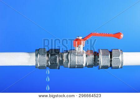 Broken Plumbing, Leak Of Water From Water Pipes